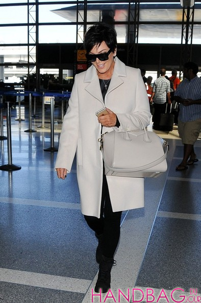 Kris Jenner With Givenchy Antigona Bag At Lax Handbag Du