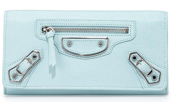 Balenciaga Edge Goatskin Wallet Light Blue Bag Review