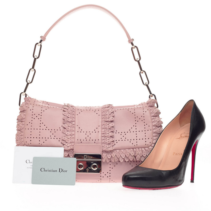 Dior New Lock Pink Evening Handbag
