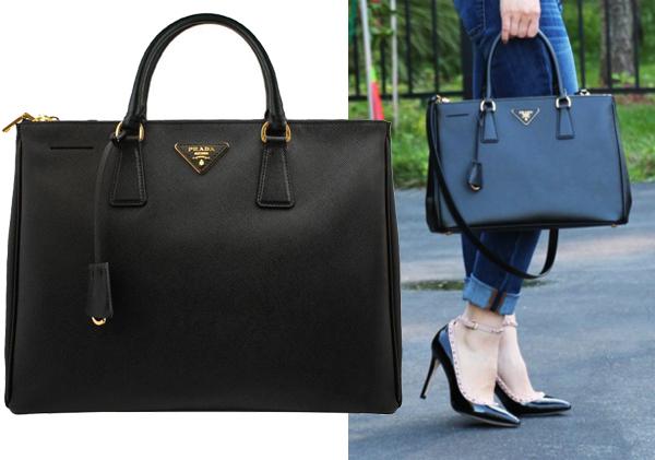 Prada Saffiano Double Zip Tote Bag | Blog for Best Designer Bags ...
