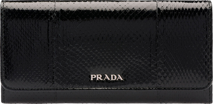 Prada  Multicolored Leather  Flap Wallet