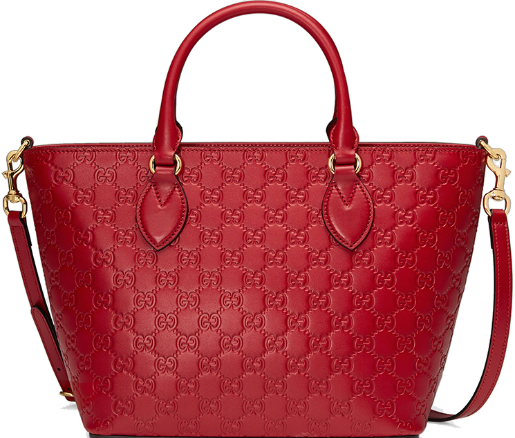 New Gucci Signature Top Handle Bag