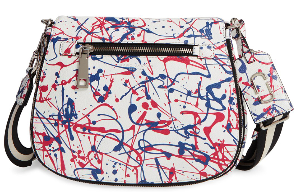 Marc Jacobs Splatter Paint Saddle Bag