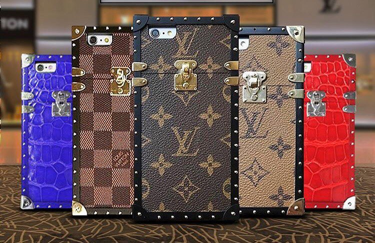 louis vuitton trunk inspired phone holders