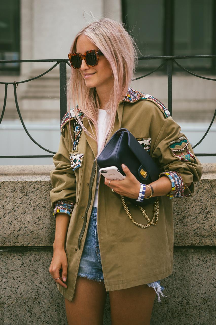 Valentino army jacket The fashion guitar Charlotte Groeneveld