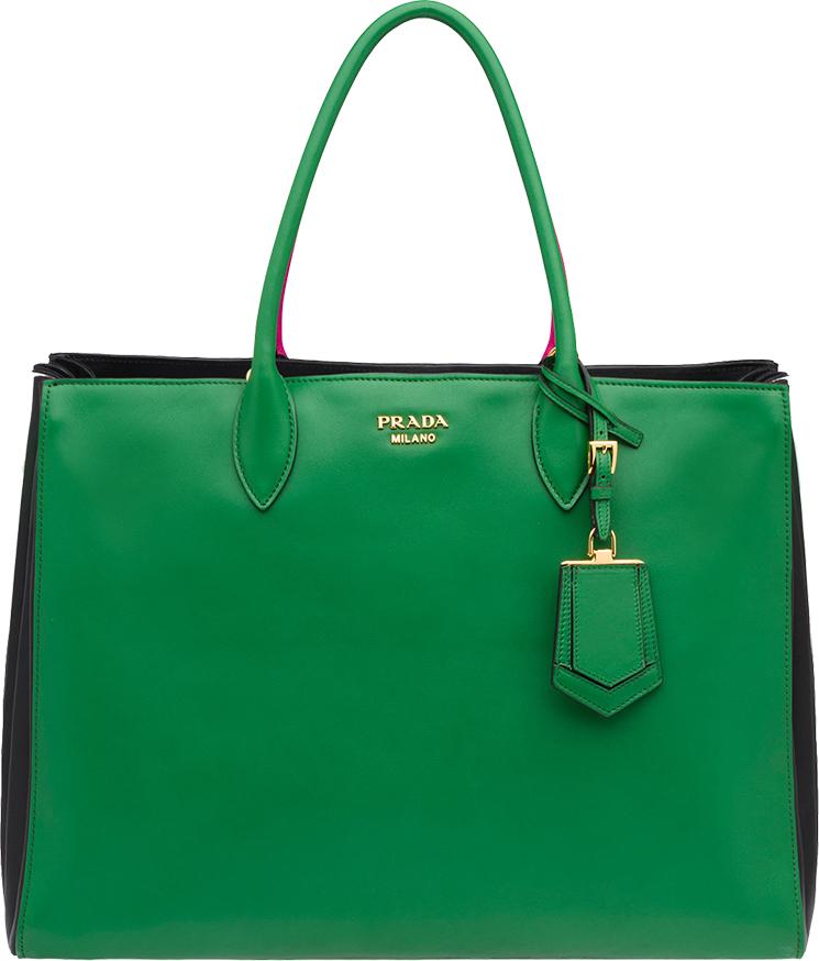 Classic And Chic Prada Tri color Bibliotheque Bag Blog for