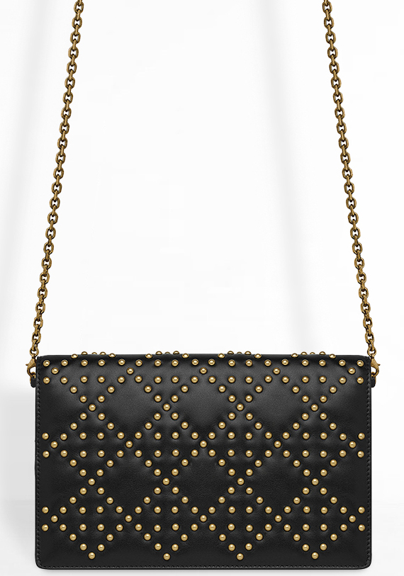 Lady Dior Studded Wallet On Chain Pouch