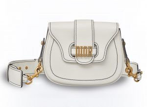 dior white d fence saddle bag