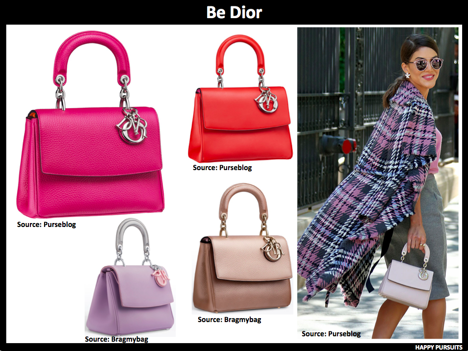 ca2ccc33b241 Be Dior is another bag that grew on me recently. The single top handle and flap  design makes it very feminine. Even with the charms