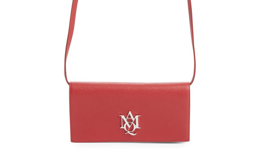 Alexander McQueen Calfskin Leather Shoulder Bag