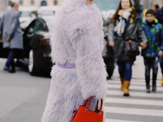 Saks Potts lilac fur by Charlotte Groeneveld Thefashionguitar