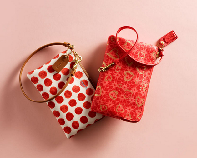 Reviewing Coach Valentine Heart Pouches