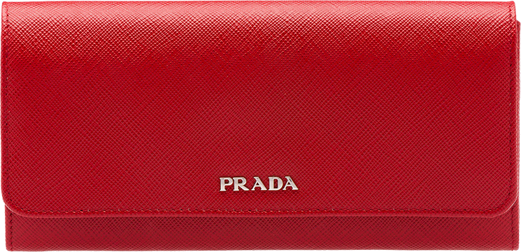 Prada Multicolored Leather Flap Wallet