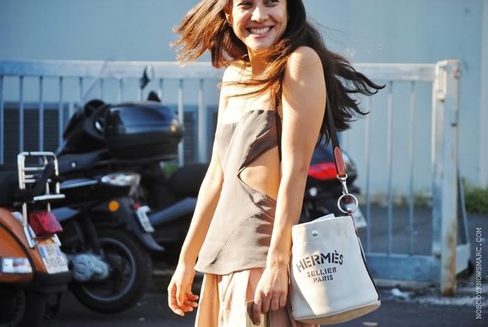 Hermes Canvas Bucket Bag