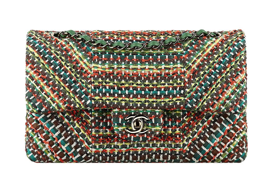 New Chanel Multicolor Tweed Flap Bag