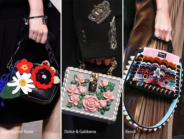 printed embellished bags